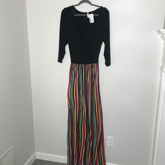 Find Me Plus Dresses   Deb Shops Find Me Rasta Colored Maxi Dress ...